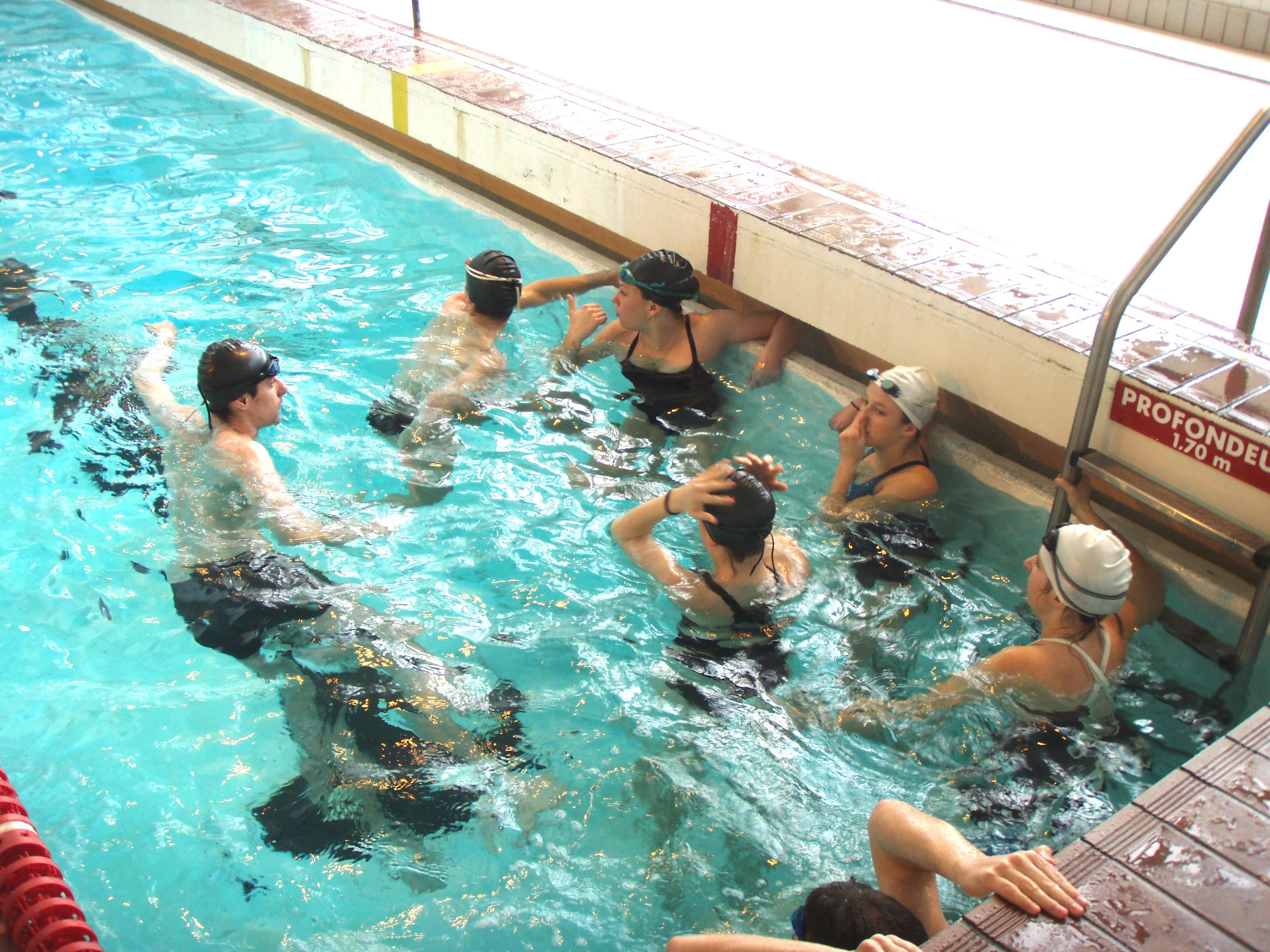cycle natation sauvetage lycée