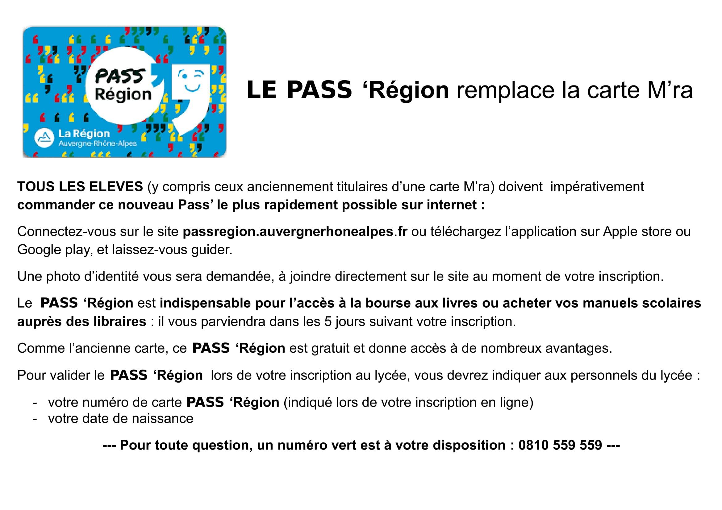 Le Pass Region Remplace La Carte M Ra